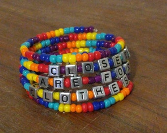 Rainbow springy bracelet