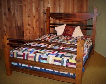 barn wood queen bed