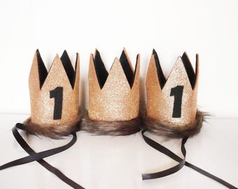 Where The Wild Things Are Birthday Party Crown, Max Crown, Wild Thing Party Supplies, First Birthday, Wild Things Costume, Wild One, 1st
