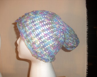 Variegated Purple Slouch Hat