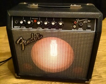 Lamp with dimmer made from a Fender guitar amp