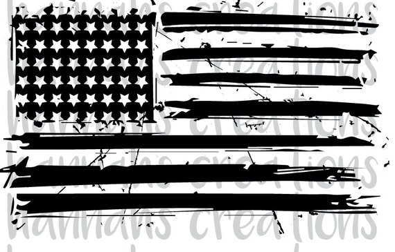 Distressed American Flag Svg Dxf Png Download