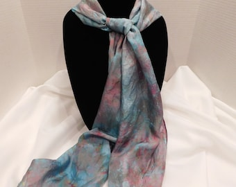 Ice dyed scarf- Eye of the Storm