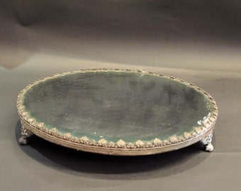 Turn Of The Century Mirrored, Footed Pedestal