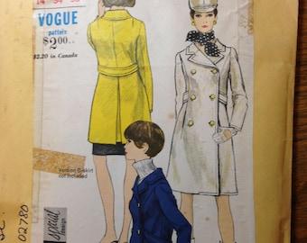 Vogue pattern 6906 for women's coat, several lengths