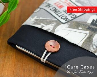 Mac Book Air 13 inch Case Black White London Modern Cute 13 MacBook Air Sleeve 13 inch MacBook Air Sleeve Case Bag for Apple MacBook Air 13