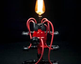Steampunk Lamp Industrial Pipe Machine Age Art #4