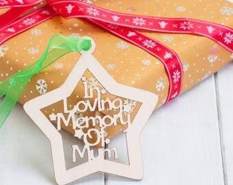 Personalised Birchwood In Memory Of Christmas Baubles