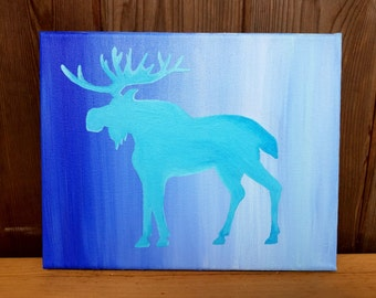 Moose Silhouette Painting