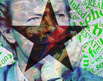 Bowie - Framed Digital Print