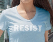 Resist  | Ladies FIT Trump Resistance T-Shirt | Impeach Now 45 POTUS FF46 Political T-Shirt and Clothing