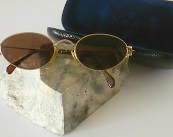 Vintage JOOP! Sunglasses mod. 8775-600 metal rimmed oval gold
