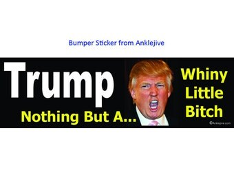 Trump - Nothing But A Whiny  Little Bitch - Anti-Trump, Anti-GOP UV-Coated Laptop/Window/Bumper Sticker