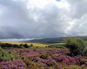 Landscape Photograph - Exmoor Storm Clouds - Instant Download