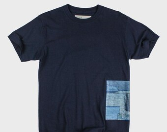 BoroBoro Cotton T-Shirt (Navy Blue)