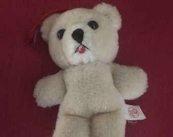 Blonde plush bear 3""