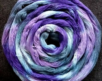 Hand Dyed Warp - Pre-wound 5 yard - Pretty In Plum - Novelty 18/2 Rayon Hand Painted Yarn