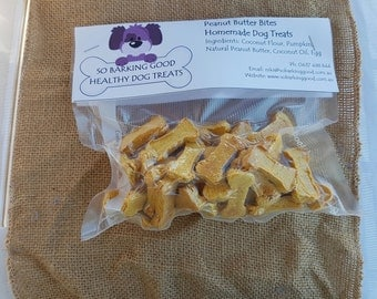 Peanut Butter Bites Dog Treats