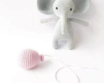PATTERN - Lewis The Elephant - amigurumi pattern, crochet pattern, PDF