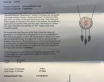 Diamond Dreamcatcher Necklace