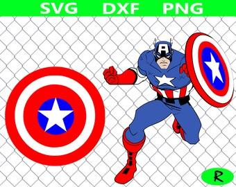 Captain America SVG bundle, Superhero SVG , Captain America shield SVG, superheroes svg, svg files for silhouette, cricut files, vinyl cut