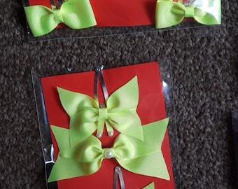 Handmade bobible and matching clips