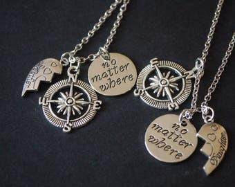Set of two mother daughter  necklaces