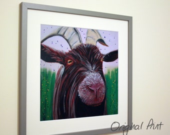 Geoff the Goat, Print, Mounted, non-framed