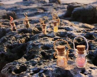Gemstone Fairy Jar Necklace