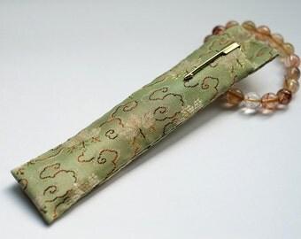 Oriental style Japan Kyoto Silk Nishijin pouch for pen