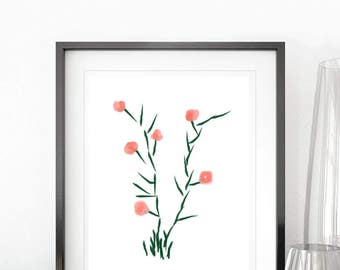 PRINTABLE flower decor, home decor, nature. wall decor, digital poster, print of nature, download, instant