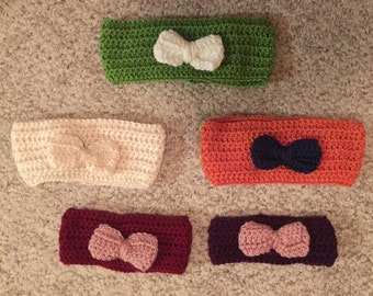 Crocheted Head Bands- Newborn to Child ages