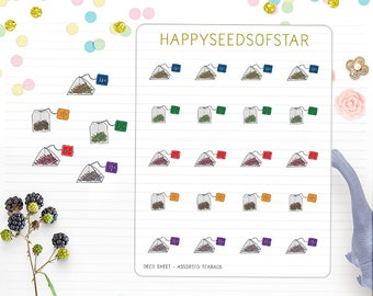 Planner Sticker - Assorted Teabags