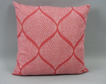 Mocambo Strawberry by Robert Allen, one pillow cover double sided or white linen backing.  Flawless invisible YKK zipper.