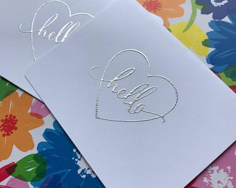 Silver Greeting Card Set
