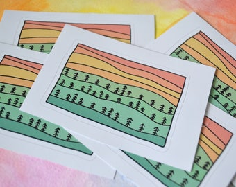 Trees on the Hills Sticker