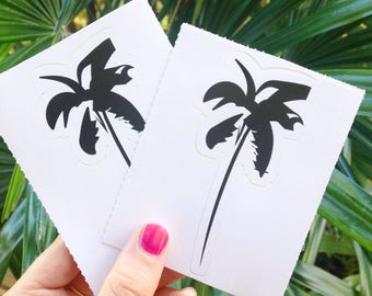Palm Tree Decal, Palm Tree Art, Hawaiian, Bumper Sticker, Coconut Tree, Car Decal, Cool Stickers, Gift for Her, Vinyl Sticker
