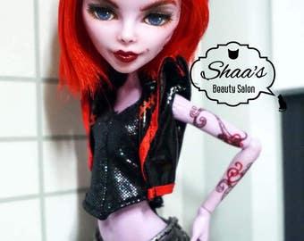 Monster High Doll Operetta Repaint / OOAK DOLL
