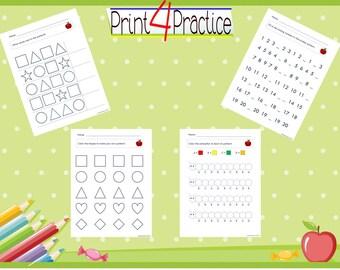 Pattern Practice, pattern worksheets, practice worksheets, kindergarten worksheets, pre-k worksheets, patterns, worksheets, practice