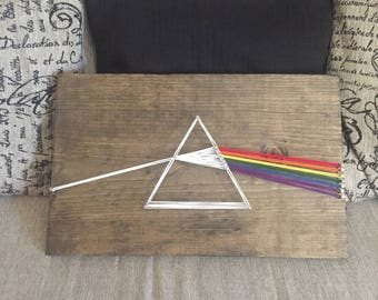 Dark Side of the Moon String Art, Pink Floyd Art, Prism Art, Astronomy