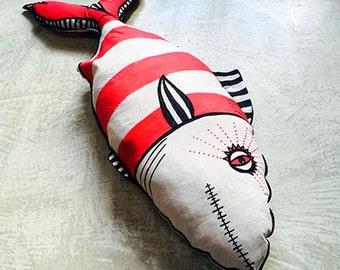 FISH MANIA 022/100 Limited edition Art, deco, funny, 100% cotton