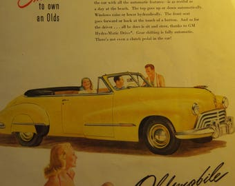 Oldsmobile Car Ad