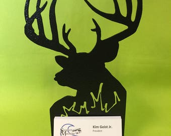Deer Desktop Business Card Holder