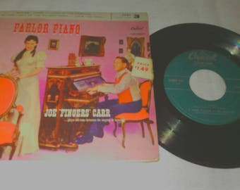 Joe Fingers Carr Parlor Piano 45RPM Vinyl Record