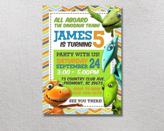 Dinosaur Train Invitation Birthday Invitations