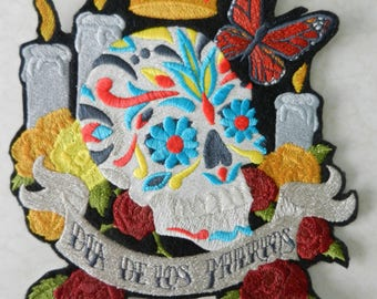 Ofrenda - Dia de los Muertos Large Iron-on Patch // Iron on Patch // Embroidered Patch