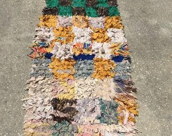 Azilal cloth runner handwoven by berber women