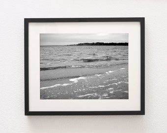 Black and White, Printable Art, Photography, Wall Art, Nature, Windy River, PRINTABLE, DOWNLOADABLE PRINT