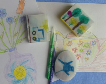 "Personalization.Handmade soap individual""children's picture"""