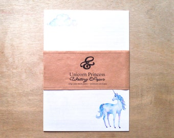 Premium eco-friendly watercolor unicorn writing paper set